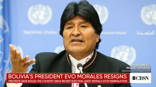 Morales Resigns