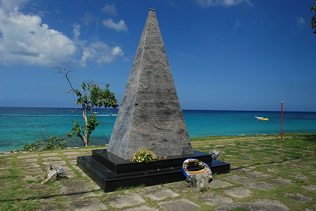 This monument was erected at Payne's Bay, Saint James, Barbados, to the memory of the people killed in the bombing