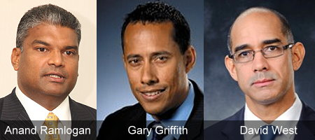 Anand Ramlogan, Gary Griffith, David West