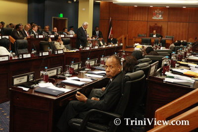 Budget presentation in Parliament at the Waterfront Complex, Port of Spain - October 10, 2011