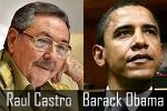 Raul Castro and Barack Obama