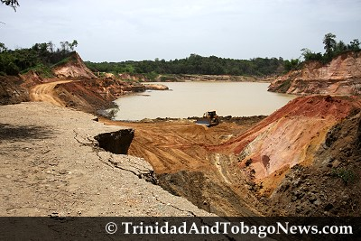 Landmass collapsed at sand quarry site in Caparo