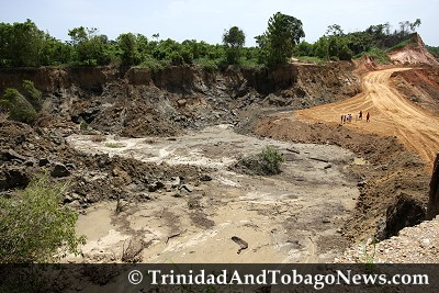 Sand quarrying caused landmass to collapse at Todd's Road, Caparo