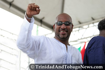 Minister of Sport and Youth Affairs Anil Roberts at the Emancipation Celebrations in Port of Spain