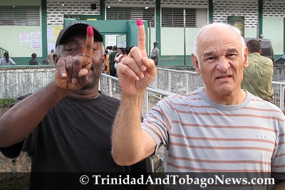 Election Day 2010: Two Voters in Maraval
