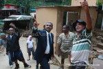 Minister Tours Landslides in La Seiva Village