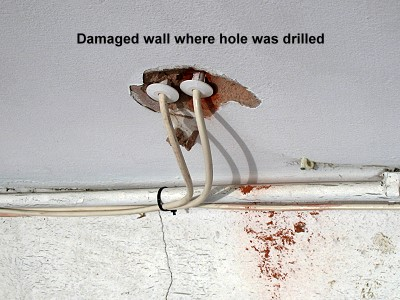 A damaged wall