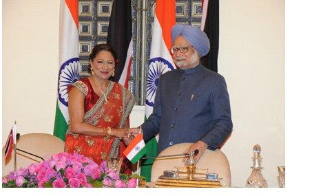 LEFT: Prime Minister Kamla Persad-Bissessar