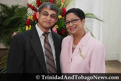 New Opposition Leader Kamla Persad-Bissessar and her husband Dr Gregory Bissessar