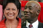 Kamla Persad-Bissessar and Keith Rowley