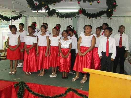 The School Choir on Stage