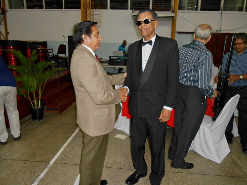 Panman Pat congratulated by Sat Balkaransingh