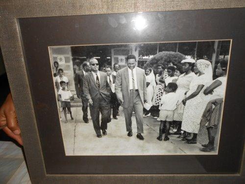 Mr Seebaran conducting the First PM Dr Williams outside of Caroni Presbyterian