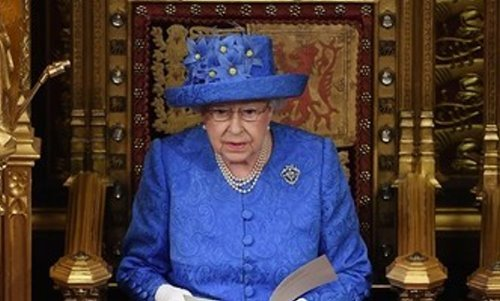 Her Majesty Delivering her Speech in the House of Lords