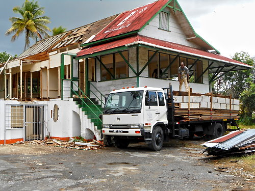 Overseer's Bungalow in Caroni being Broken Down