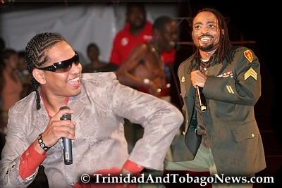 Derek 'Dawg E Slaughter' Pereira and Machel Montano in pictures