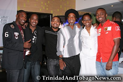 Left: Kernel Roberts, Zan, Machel, Machels Father, Elizabeth and Marcus Montano