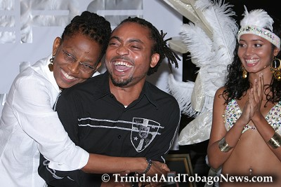 Machel and his mother Elizabeth Montano at Club Zen last night