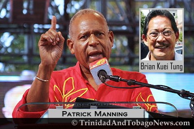 Prime Minister Patrick Manning and Brian Kuei Tung