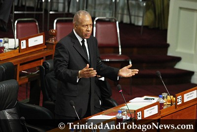 PM Patrick Manning yesterday in parliament