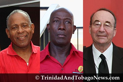 PM Patrick Manning, Dr Keith Rowley and Calder Hart