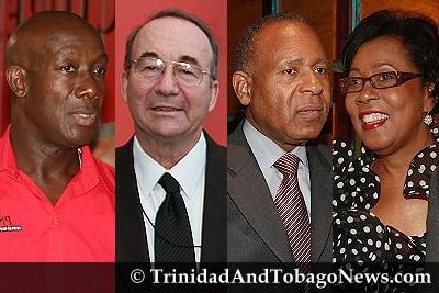 Dr Keith Rowley, Calder Hart, Patrick Manning & Hazel Manning
