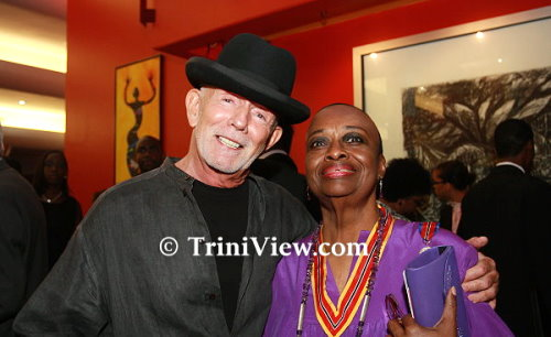 Peter Minshall and Pat Bishop at the 2010 Independence Day Awards Ceremony at Queen's Hall, St Ann's