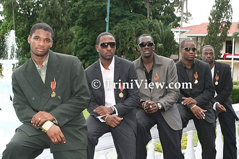 T&T Olympic Silver Medalists get their Chaconia Gold