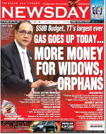 Finance Minister Larry Howai on the front page of Newsday