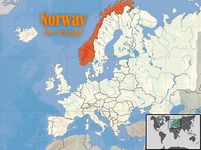 Norway (in orange)