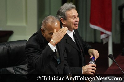 Prime Minister Patrick Manning and Colm Imbert