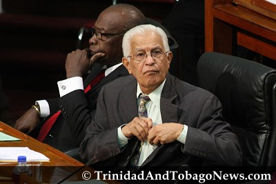Chief Whip Jack Warner and Basdeo Panday
