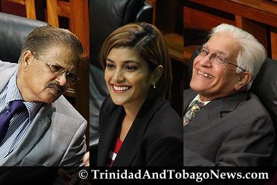 Subhas Panday, Mickela Panday and Basdeo Panday