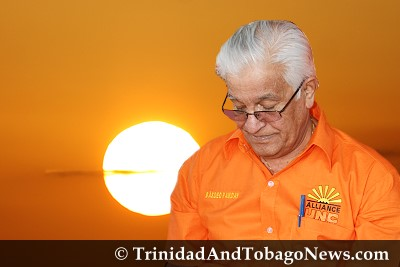 Defeated UNC leader Basdeo Panday