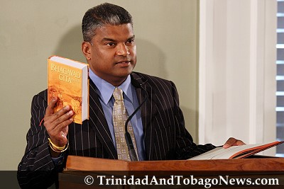 Anand Ramlogan is sworn in as the Attorney General of Trinidad and Tobago