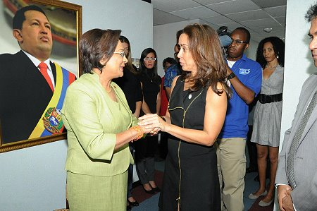 Prime Minister Kamla Persad-Bissessar offers Condolences to the Venezuelan Ambassador