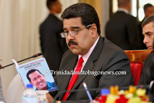 Venezuela's President Nicolás Maduro during his recent visit to T&T