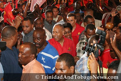 Patrick Manning at PNM Rally in St Augustine, last night