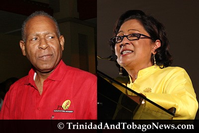 PM Patrick Manning and Opposition Leader Kamla Persad-Bissessar