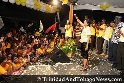 Victory celebration at Rienzi Complex