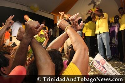 Victory celebration at Rienzi Complex