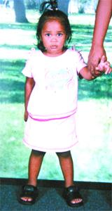 Three-year-old Roshni Ramdial