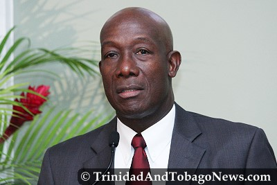 Opposition Leader Dr Keith Rowley