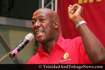 Diego Martin West PNM candidate Dr Keith Rowley