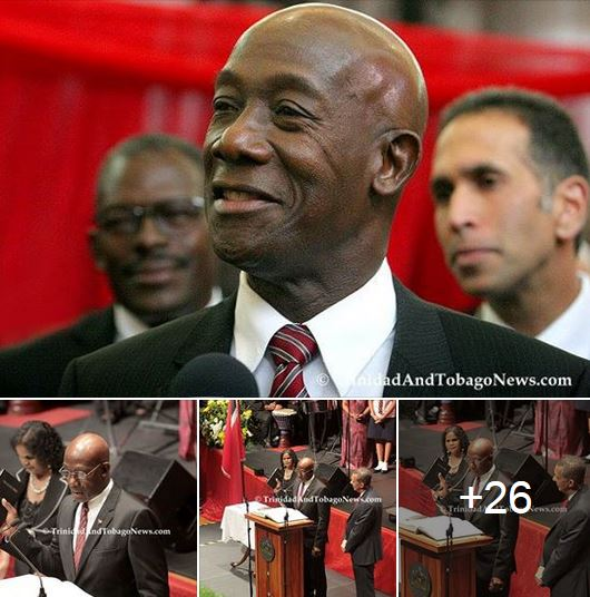 Swearing in Ceremony of Elected Prime Minister Dr. Keith Rowley