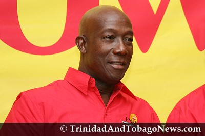 Interim Opposition Leader Dr Keith Rowley