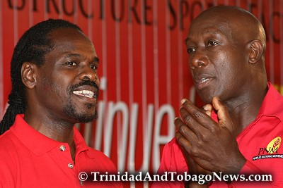 Fitzgerald Hinds and Keith Rowley