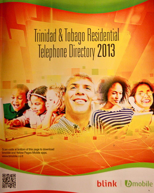 Trinidad and Tobago Residental Telephone Directory 2013 Cover