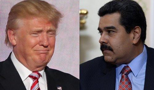 US President Donald Trump (L) and Venezuelan President Nicolas Maduro (R) (Wikipedia)