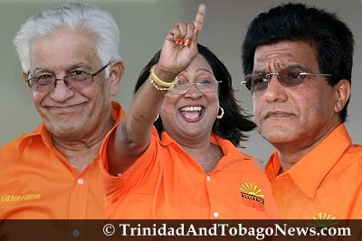 Basdeo Panday, Kamla Persad-Bissessar and Ramesh Lawrence Maharaj